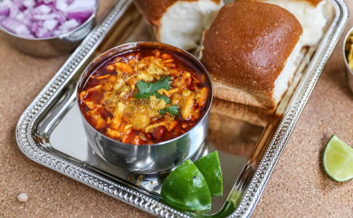 Usal Pav | Spicy Misal Pav-Kolhapuri Style