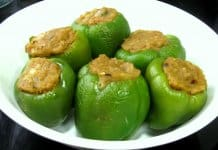 Capsicum-Stuffed With Potatoes And Peas