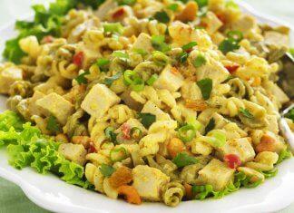 paneer curry pasta salad