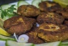 Green Fish Kebab
